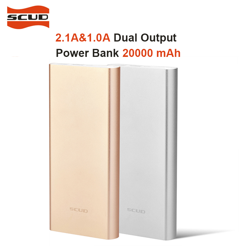 SCUD Polymer font b Power b font font b Bank b font Mini Slim 20000mah External