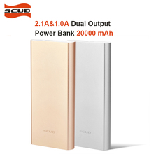 SCUD Polymer Power Bank Mini Slim 20000mah External Battery Portable Mobile Fast Charger Dual USB Powerbank 20000 mah