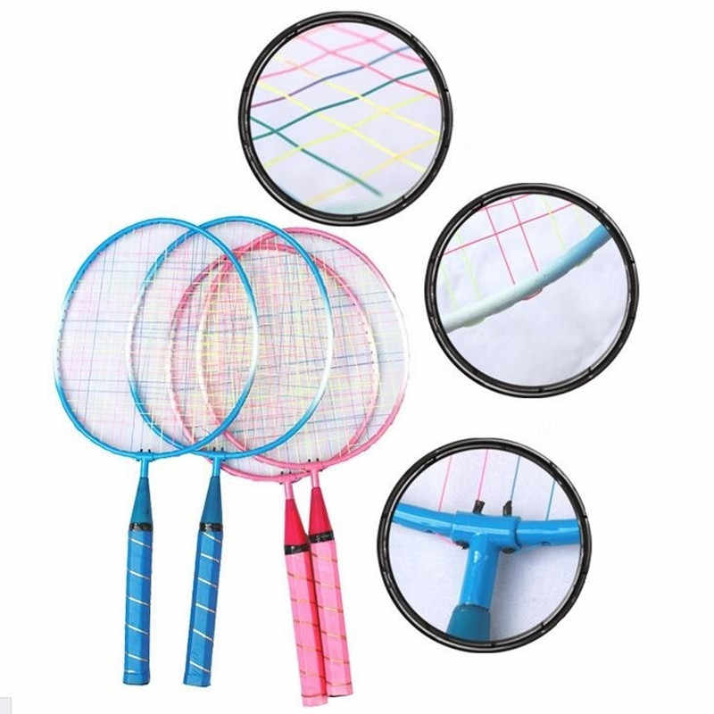 1 Pair Youth Children's Badminton Rackets Sports Cartoon Suit Toy for Children Baby