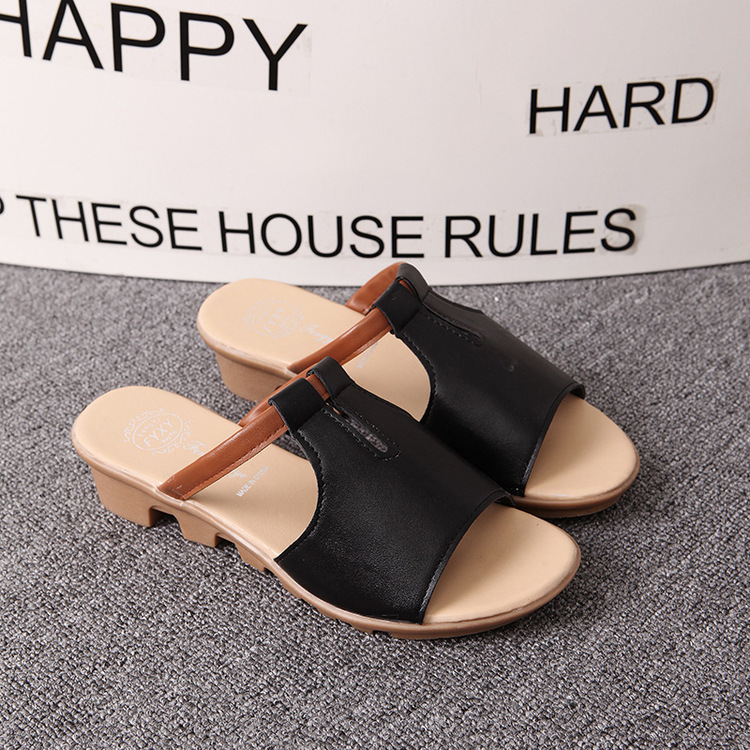New Summer Slipper Women Slippers Slides Women Sandals Slippers Word Hollow out Women Single Sandals Non-slip Fashion B1210 4