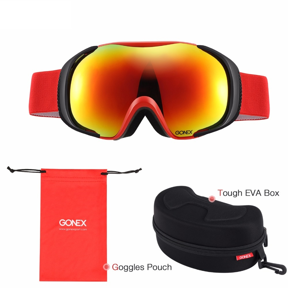 Goenx Polarized Snowboard Ski Goggles Anti-Fog Uv400 Safety Double Lens Snowboarding Glasses For Males Ladies Winter Helmet Sports activities