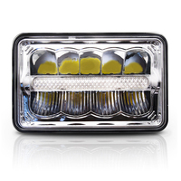 Car Styling Square LED Headlight HI LO DRL High Low Beam Square Led Headlight For Jeep
