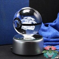 Dropping Venusaur Design Figurines Crystal Poke Ball 3D Pokemon Miniatures Graduation Christmas Gifts