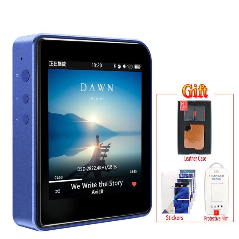 Shanling M1บลูทูธAPTXมินิDAP DSD Lossless MP3เครื่องเล่นเพลงแบบพกพา+ซองหนัง+ฟิล์มป้องกันหน้าจอฟรี