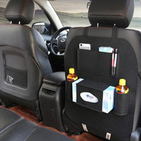 Universal Car Back Seat Organizer Storage Bag Automobiles Interior Accessories Container Stowing Tidying Beverage Phone Holder