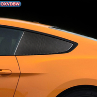 carbon fiber Panel Blinds Decorative for Ford Mustang Car Stickers Car Styling 2015 2016 2017 Accessories Car window Refit