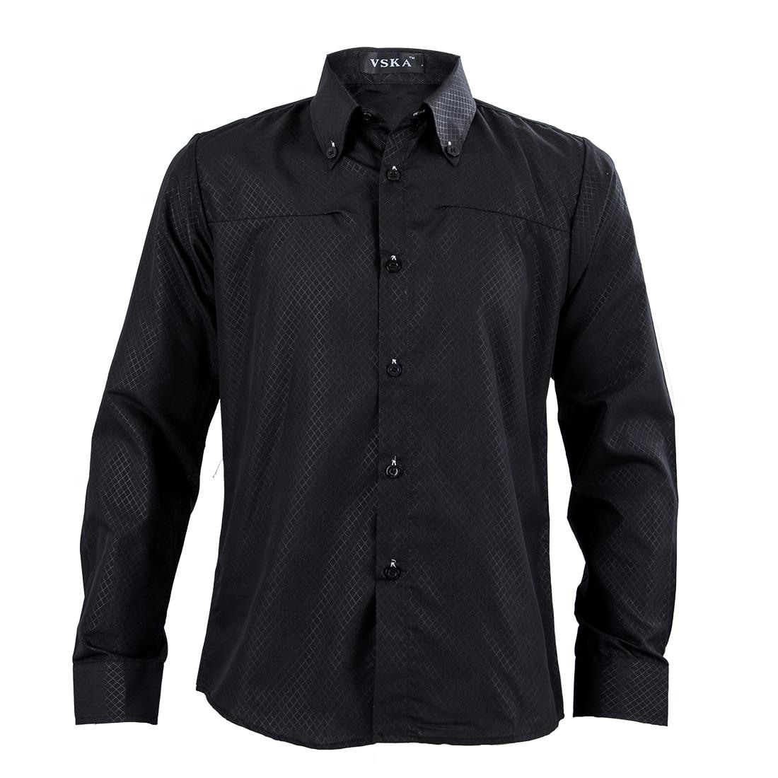 syb 2016 neue neue slim fit herren hemden schwarz von. Black Bedroom Furniture Sets. Home Design Ideas