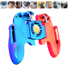 H6 PUBG Gamepad Cell Phone Mobile control Joystick Gamer Android Game pad L1R1 controller for iPhone Xiaomi Cooler Cooling Fan