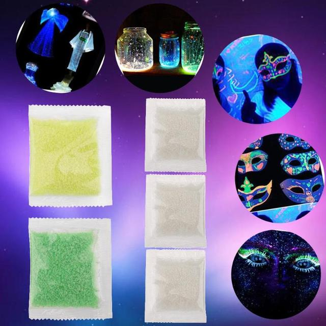 Magic Fluorescent Glow in the Dark Party Bright Paint Star Wishing Particle Toys for Children Gift Luminous Sand Bottle
