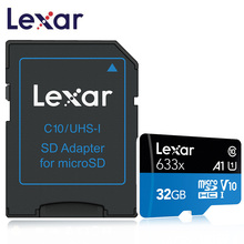 Lexar Micro SD Card 32GB 64GB 128GB Memory card High Speed up to Max 95M/s Class10 633x TF Flash for car smart phone
