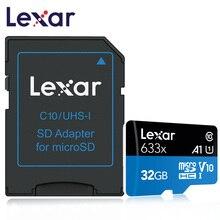 Lexar güncelleme sürümü mikro SD kart Carte SD 32 GB 64GB 128GB hafıza kartı Class10 633x TF Flash kartları için akıllı telefon Microsd