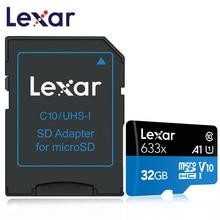 Versión de actualización de Lexar tarjeta Micro SD tarjeta SD 32 GB 64GB 128GB tarjeta de memoria Class10 633x sd micro TF Flash tarjetas para teléfono inteligente Microsd targetas memoria tf card 32gb microsd 16gb