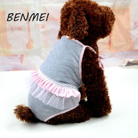 BENMEI Menstruation Underwear For Pet Dog Sanitary Physiological Pants Dress Style Dog Shorts Panties Briefs Shorts