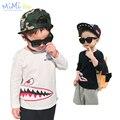 Roupas para crianças dos desenhos animados crocodile impresso camisa de t para o menino manga longa de moda traje de alta qualidade bobo choses crianças t camisa