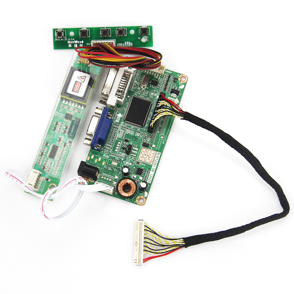 VGA+DVI For LP154WX5-TLA1 LTN154AT07 M.RT2261 M.RT2281 LCD/LED Controller Driver Board 1280x800 LVDS Monitor Reuse Laptop