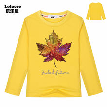 38f900a60279ce Ragazzi Ragazze Canada Bandiera Moda Tee shirt 100% Cotone Lungo manicotto T -Shirt Canadese Foglia D'acero Primavera Stile di Li.
