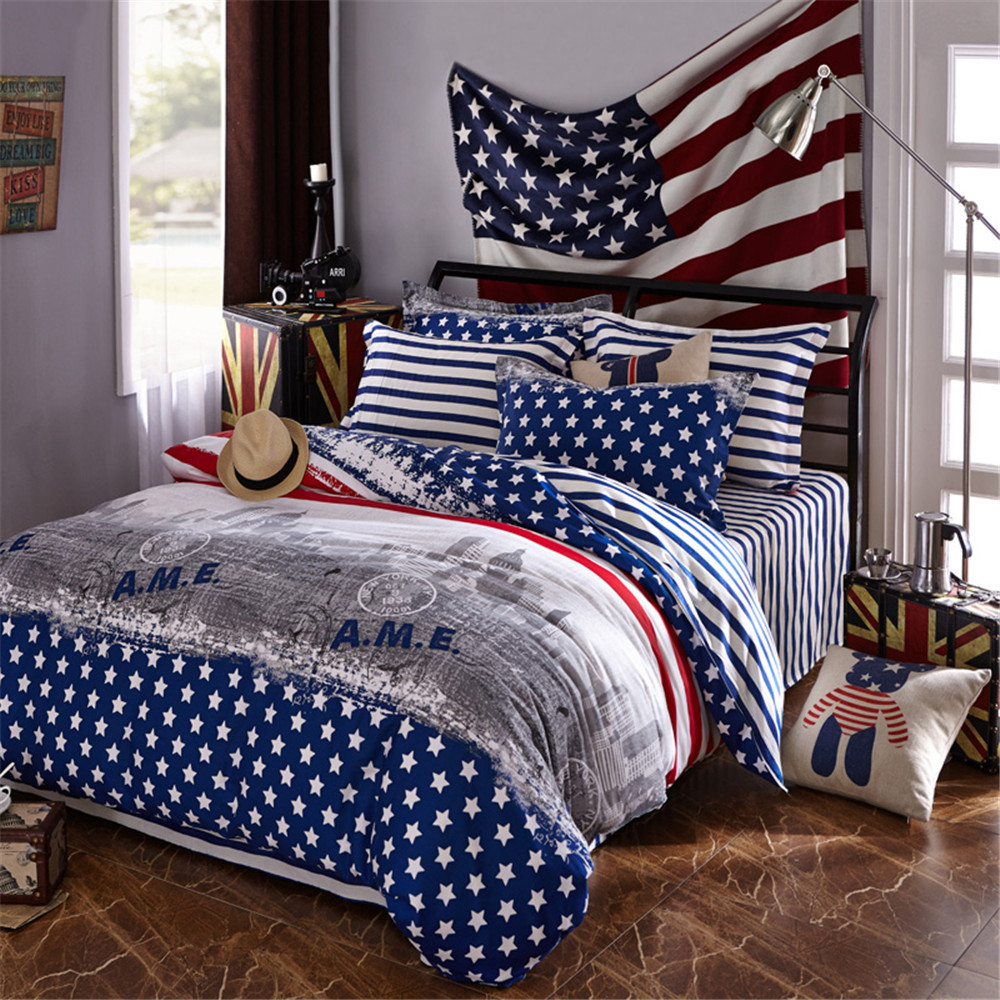 America Style Boys Beding no quilt 100  Cotton Kids Duvet Cover  Sets America Star. Popular Mens Bedspreads Buy Cheap Mens Bedspreads lots from China