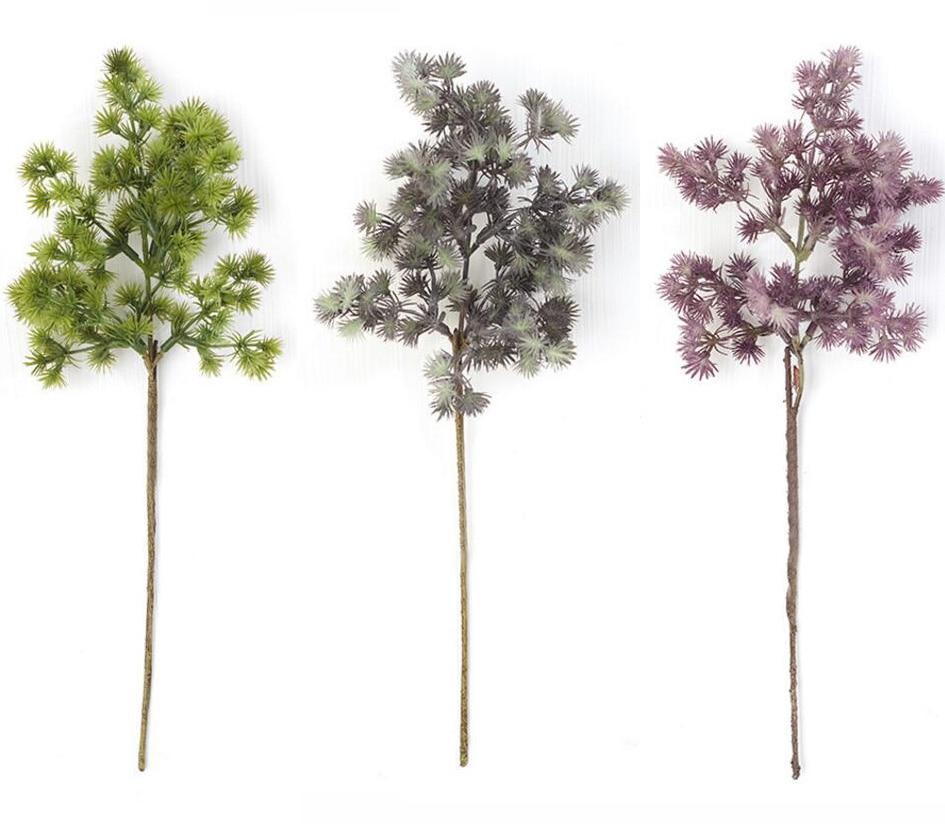 10 шт. искусственные сосновые иглы листья ветка цветы для Свадебная вечеринка домашних праздников Venue украшения Букет DIY Создание