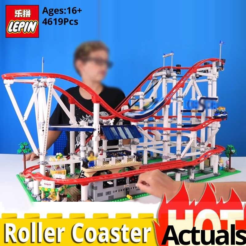 Educativos creador de la serie 15039 de Montaña Rusa modelo conjunto de bloques de construcción auto bloqueo ladrillos juguetes compatible legoinglys 10261