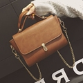 2017 New Arrival Flap Pu Shoulder Bags & Crossbody Polyester Single Vintage Women Solid Cover Hard Silt Pocket 801