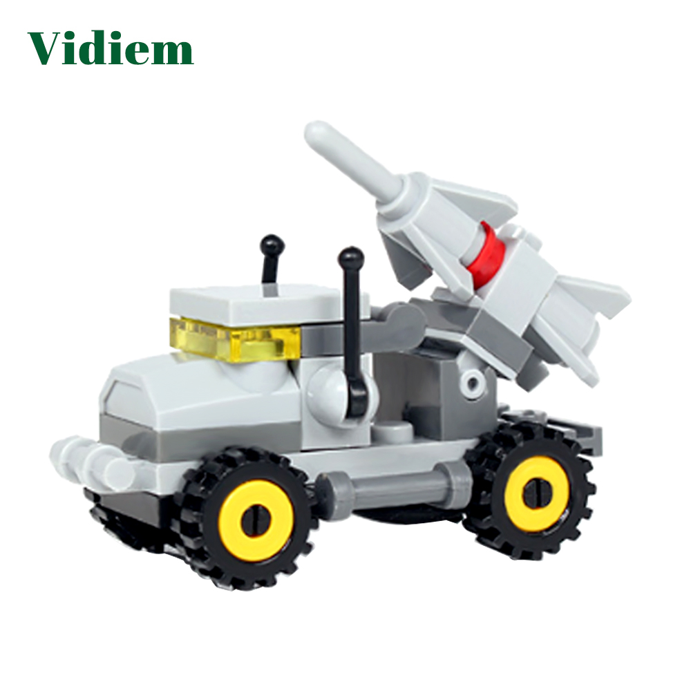 Toys & Hobbies Blocks Vidiem Building Blocks Toys For Kids Early Educational Gift Military Vehicle Series Compatible With Legoing Friends Small Bricks