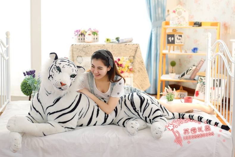 simulation animal white tiger plush toy biggest 170cm tiger surprised gift  w9999 stuffed animal 110cm plush tiger toy about 43 inch simulation tiger doll great gift free shipping w018
