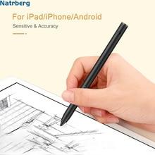 Natrberg ручка для планшета iPad карандаш сенсорная панель для планшета стилус для Apple Pencil Mi Pad 4 Android iPhone XS MAX для рисования