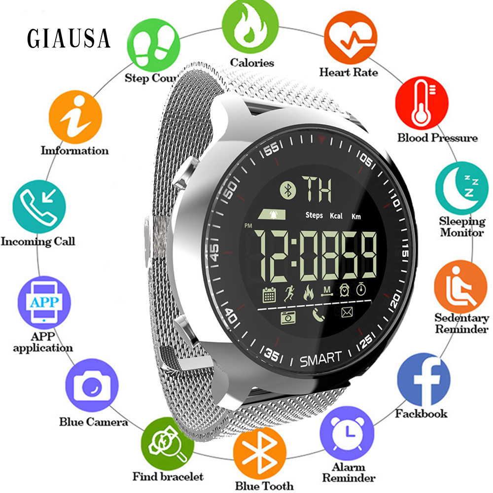 Hot Sell Sport Watch Bluetooth Waterproof Men Smart Watch Digital Ultra-long Standby Support Call and SMS Reminder SmartWatch(China)