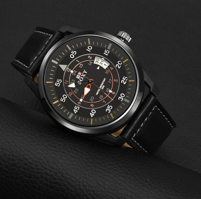 kalender herenhorloge quartz herenhorloges Lederen horloges voor - Herenhorloges - Foto 5
