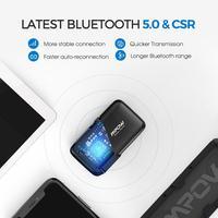 יד מתאם החדש MPOW Bluetooth5.0 מקלט אלחוטי עם CSR Core Audio מתאם באמצעות שיחות יד-חופשית לרכב אור LED ניווט קולי (4)