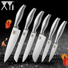 hot deal buy xyj stainless steel kitchen knives set japanese style chef knife bread meat cleaver kitchen knife gift kitchen accessories tool