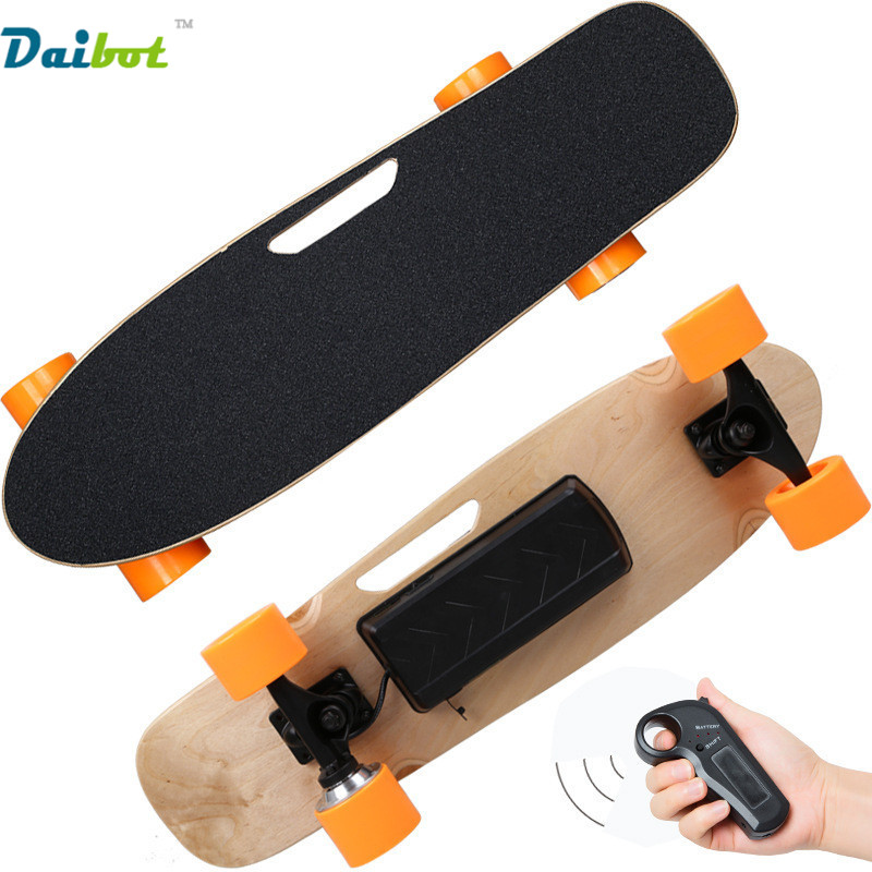 Four Wheel Electric Skateboard With Wireless Remote Controller E Skateboard Scooter Small Fish Plate Skate Board for Adults Kids
