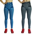 Plue Size Women Fleece Lined Autumn Winter Jegging Jeans Genie Slim Fashion Jeggings Leggings 2 Colors Woman Workout Pants