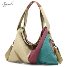 2017 New Original Fashion Woman Canvas Bags Women Casual Shoulder Bag Famous Female Handbags Girls Ladies Shoulder Bags