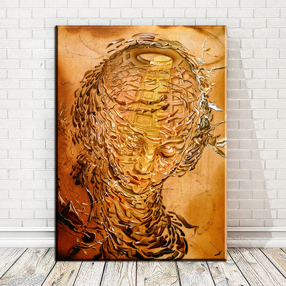 Obra De Arte Surrealista Salvador Dali Xx3177 Surrealista Salvador Dali Obras De Arte Da Lona Moderna Da Parede Pictures For Living Room Home Decor No Frame
