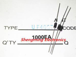 100PCS UF4007 1A 1000V Ultra fast rectifier diode