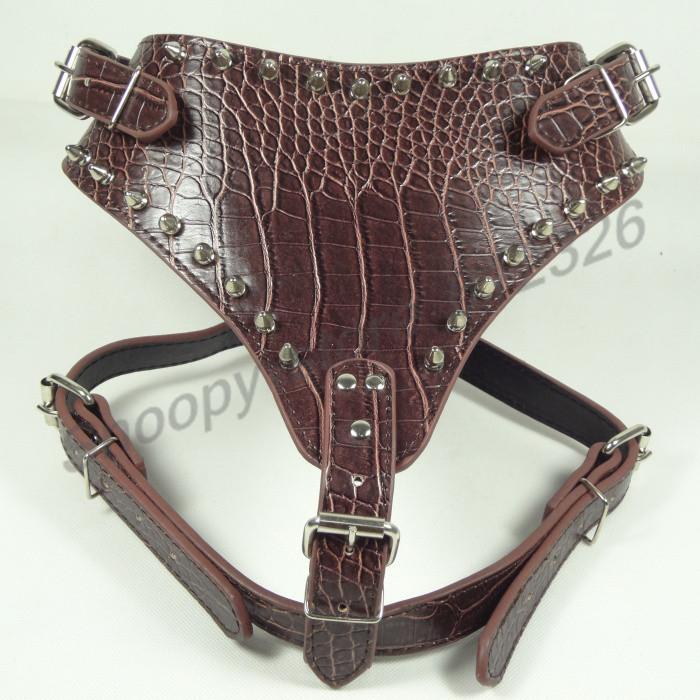 кожа для прод домашнее Riot собака, регулируемый, екс подарок, простой дизайн, полу кожа волна края гвоздь, Born коричневый