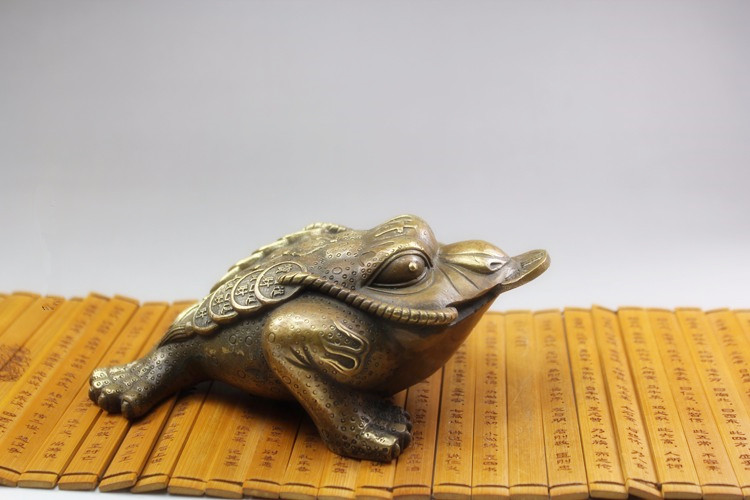 TNUKK Copper brass toad Lucky Cai antiques antique brass crafts ornaments collectibles shipping.TNUKK Copper brass toad Lucky Cai antiques antique brass crafts ornaments collectibles shipping.