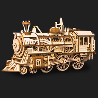 3 Kinds Wooden Toys Educational Toys 3D Puzzle DIY Laser Cutting Mechanical Model Puzzles For Kids Wooden Puzzle Game Gift Toy
