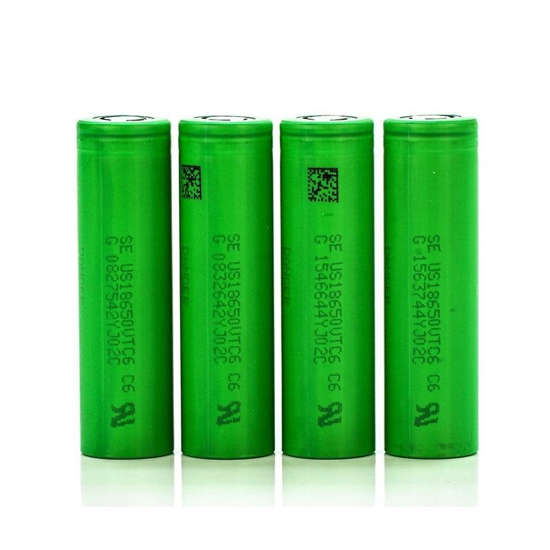 4pcs for Sony <font><b>18650</b></font> <font><b>VTC6</b></font> <font><b>Batteries</b></font> US18650VTC6 3000mAh 3.7v 30A high drain lithium rechargeable <font><b>Battery</b></font> for e-cigarette
