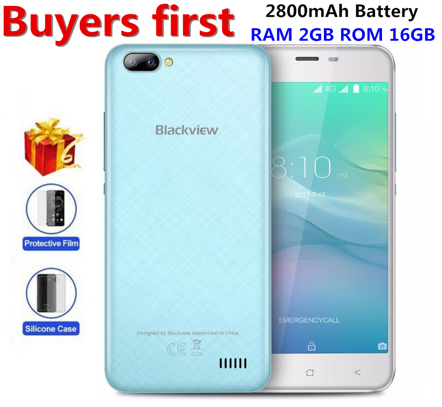 Blackview A7 Pro 4G Smartphone Dual Rear Camera RAM 2GB ROM 16GB Android 7 0 MTK6737