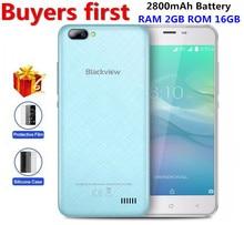"""Blackview A7 Pro 4G Smartphone Double Arrière Caméra RAM 2 GB ROM 16 GB Android 7.0 MTK6737 Quad Core 5.0 """"8MP D'empreintes Digitales Mobile Téléphone"""