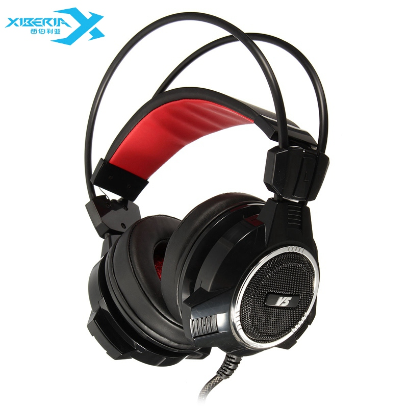 Original XIBERIA V5 3.5mm Low Bass Computer Gaming Headset With Microphone Headphone Gamer USB Mic PC Gamer Headphones original xiberia v2 led gaming headphones with microphone mic usb vibration deep bass stereo pc gamer headset gaming headset