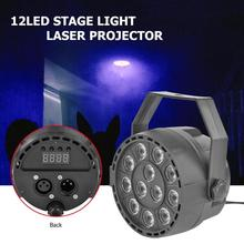 цена 12LED Stage Light Laser Projector KTV Bar Club Show Party DJ Disco Par Lamp for KTV Box Dance hall Night club disco bar онлайн в 2017 году