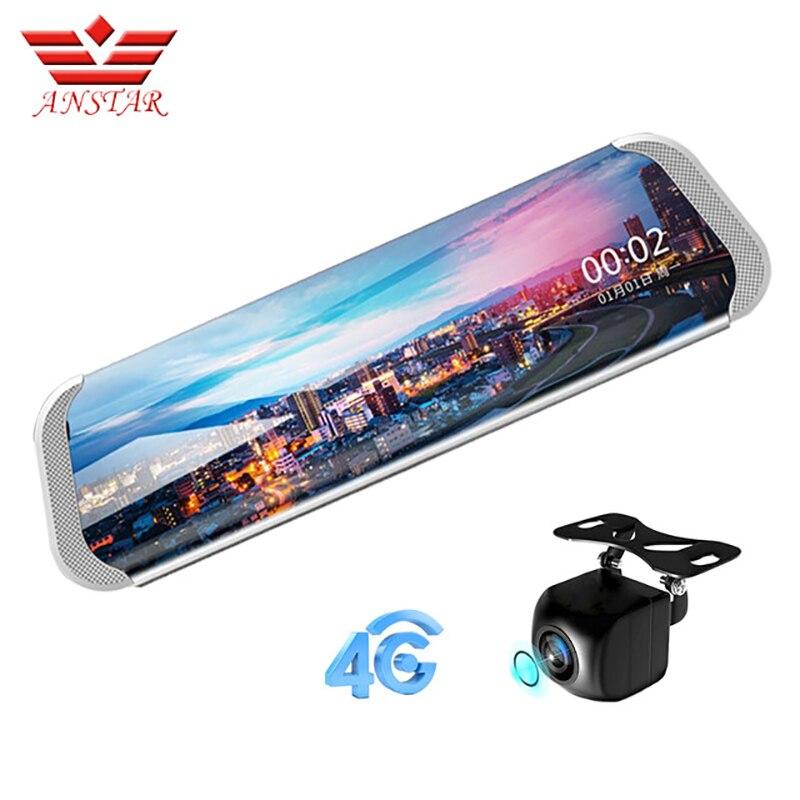 ANSTAR 3g/4g Voiture DVRs1080P Nuit Vision Dash Cam Bluetooth Rétroviseur ADAS WIFI Streaming Arrière Vue caméra Langue Russe