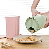 Compartment fresh-keeping storage tank for cereal grain can high quality  18*12.5cm free shipping