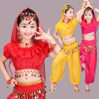New Style Girls Belly Dance Costume Kids Indian Dance Dress Child Bollywood Dance Costumes For Girls