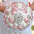 Рамос де novia mariage великолепная бисера кристалл свадебные букеты букет de fleurs Кот Роуз свадебные цветы свадебные букеты