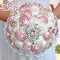 ramos de novia bouquet de fleurs mariage gorgeous beaded crystal wedding bouquets Ivory Rose wedding flowers bridal bouquets