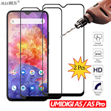 2Pcs Tempered Glass UMIDIGI A5 Pro Full Screen Protector for Protective phone Case